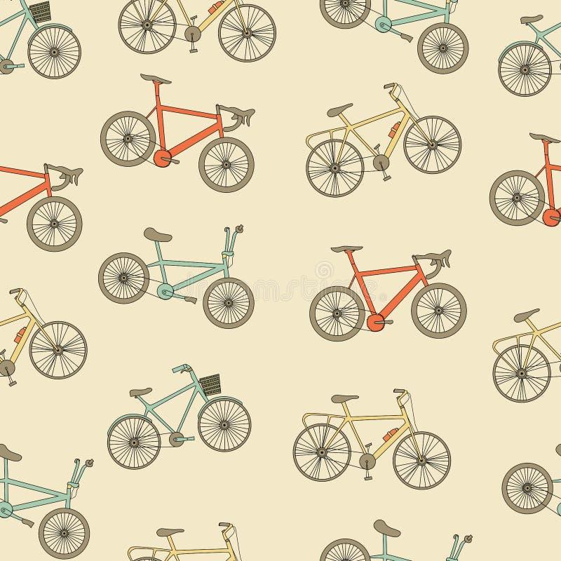 Bikes o teste padrão sem emenda ilustração do vetor