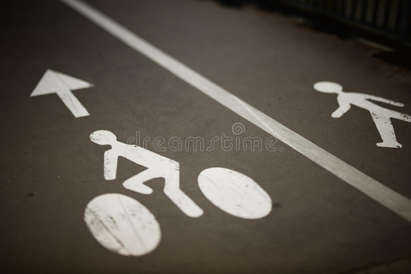 Download Bikes And Pedestrian Lanes Royalty Free Stock Photography - Image: 25800227