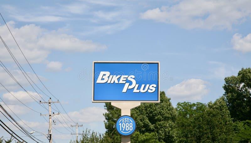 Bikes Plus Repair Shop stock image