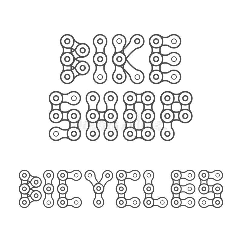 Bikes Shop Emblem, Lettering. Design Element for Bike Shop or Advertising Banner royalty free illustration