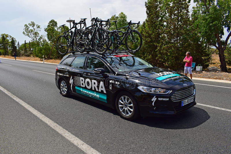 Bora Hansgrohe Team Car La Vuelta España royalty free stock images