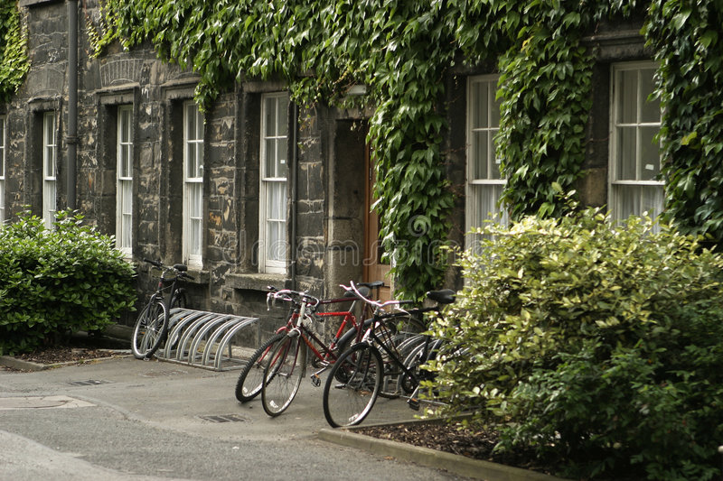 Download Bikes at Trinity College stock photo. Image of trinity - 1211244