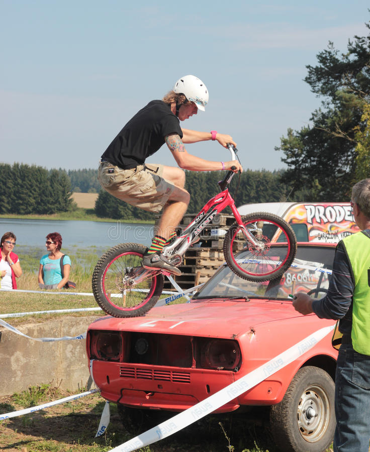Biketrial Czech Championship Editorial Photography