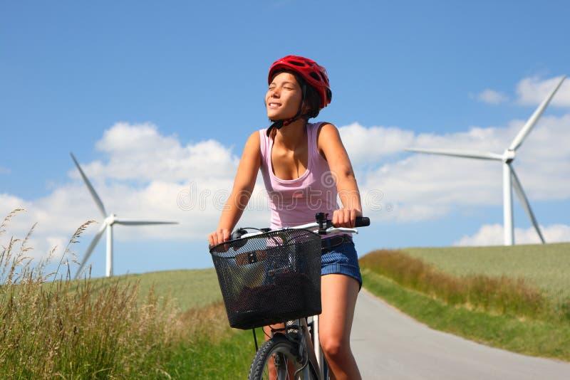 biking αέρας στροβίλων στοκ εικόνα με δικαίωμα ελεύθερης χρήσης