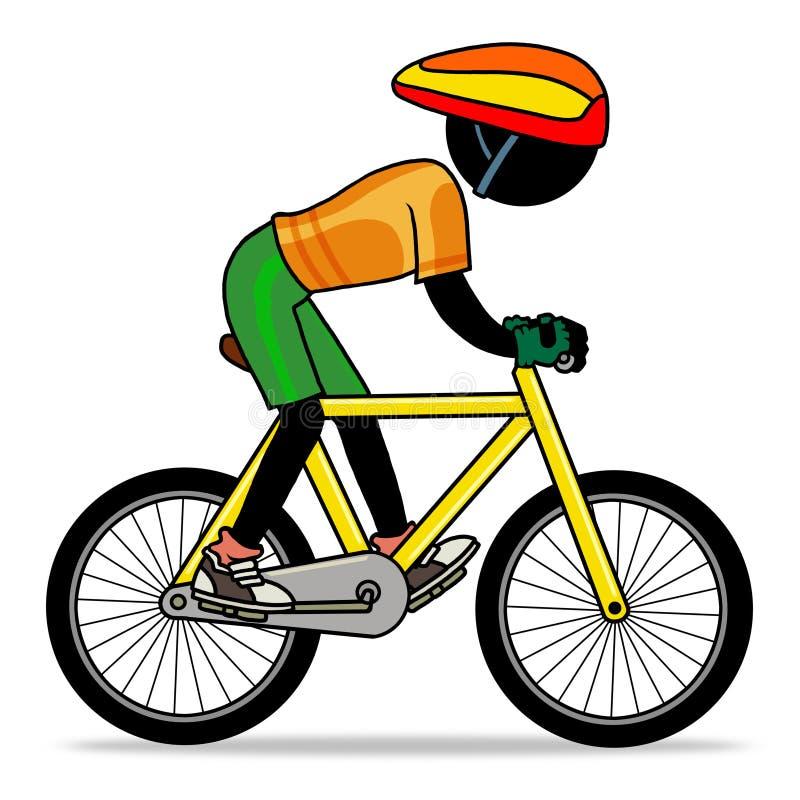 Biking ilustração royalty free