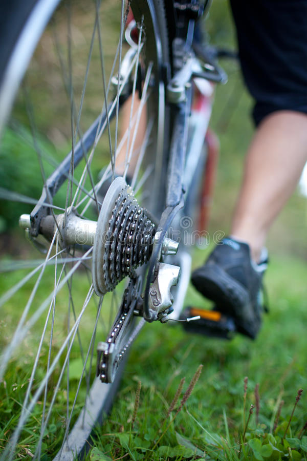 Download Biking στοκ εικόνες. εικόνα από πόδι, χόμπι, βουνό, υγιής - 17052448