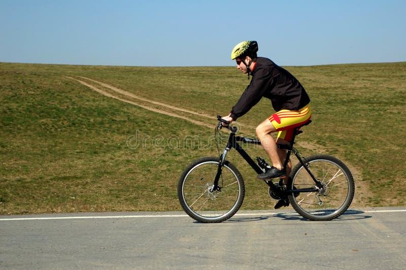 Biking royalty-vrije stock foto's