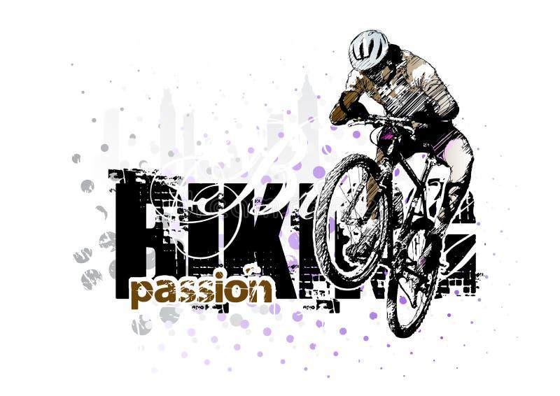 Biking 3 ilustração stock