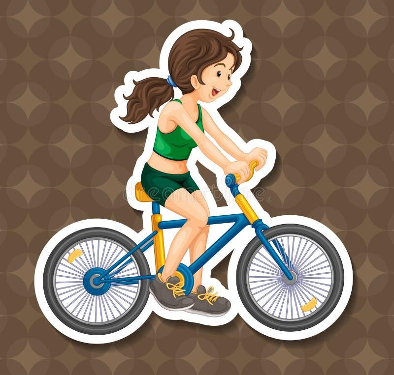 biking illustration libre de droits