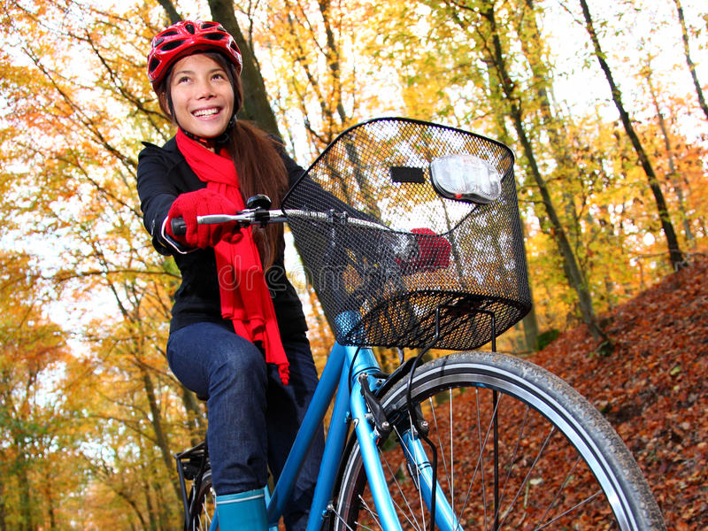 Download Biking In Autumn Forest Stock Photo - Image: 15076360