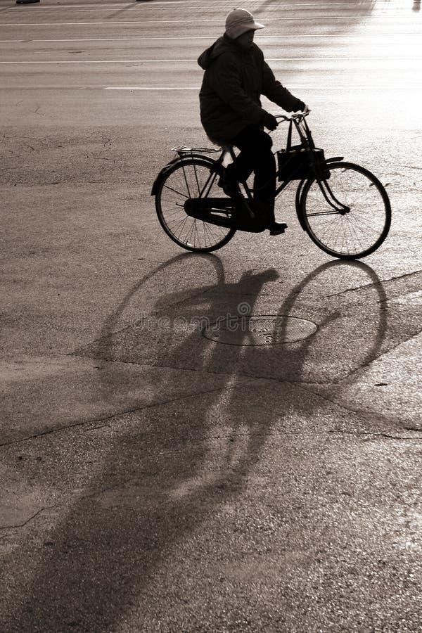 Biking in bejing stock images