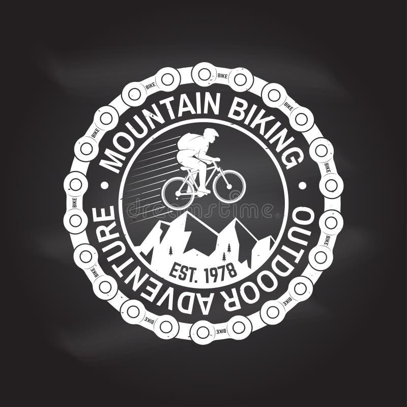 Biking da montanha Ilustração do vetor ilustração stock