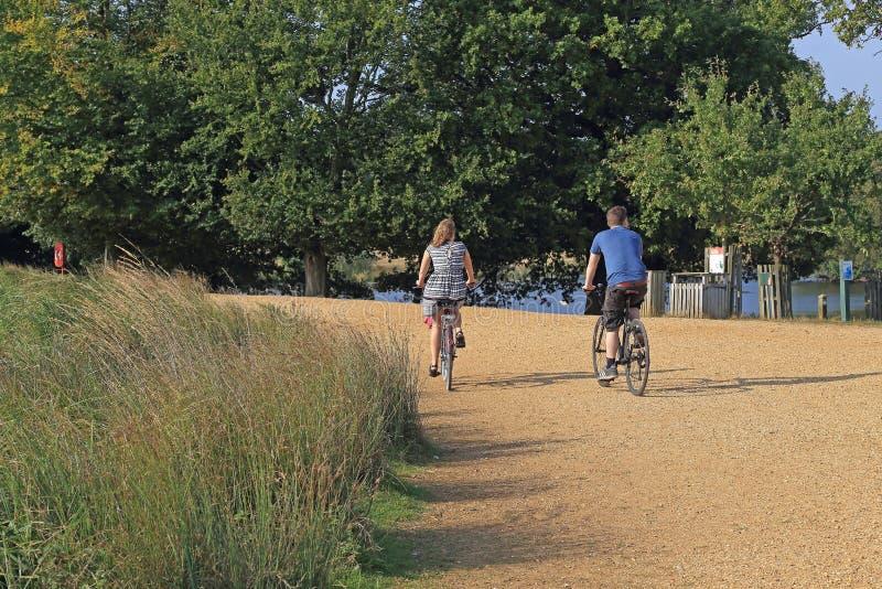 Biking em Richmond Park, Londres foto de stock royalty free