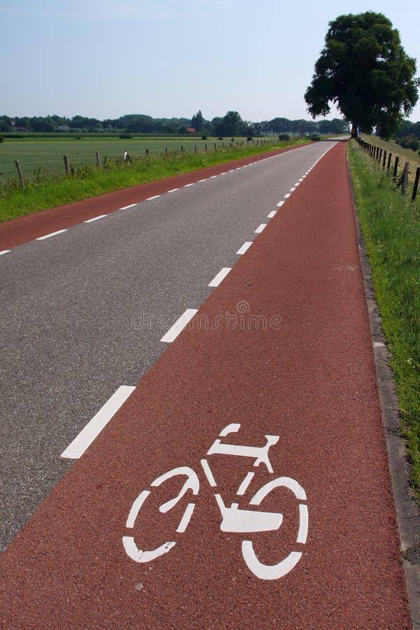 Biking lane. Separate biking for increased traffic safety royalty free stock photo