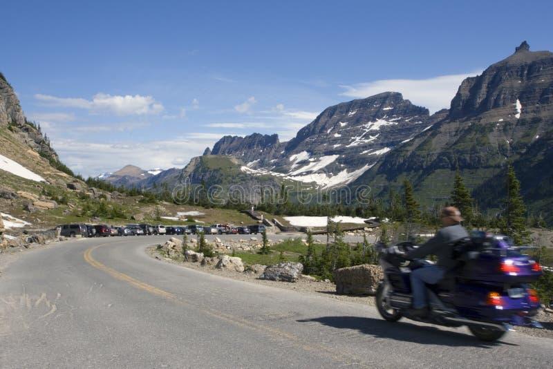 Biking in Montana royalty-vrije stock afbeelding