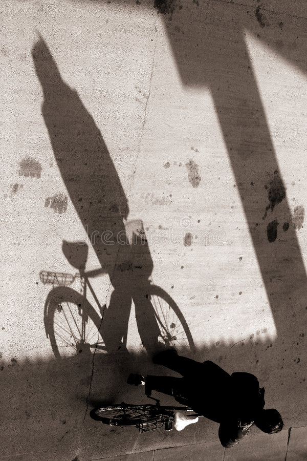 Biking nel bejing fotografia stock