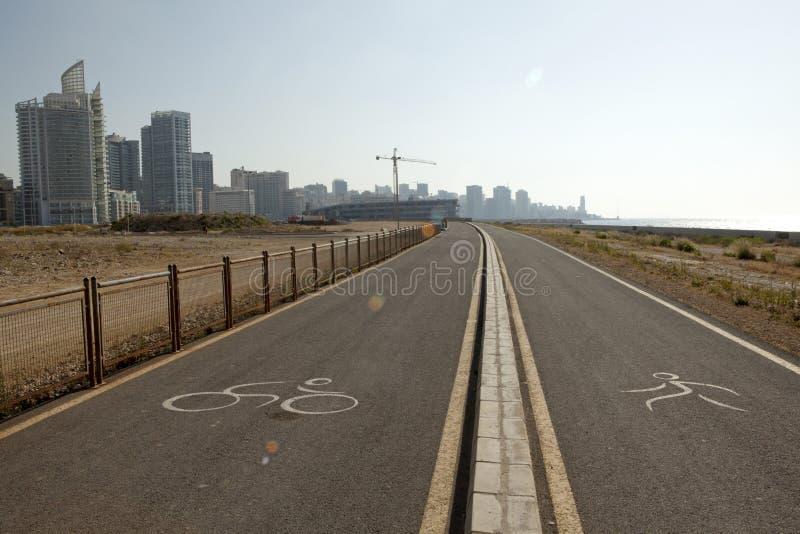 Biking and running lanes, Beirut royalty free stock photo