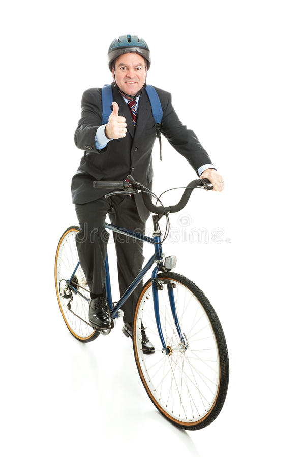 Download Biking to Work - Thumbs Up stock photo. Image of forty - 25190942