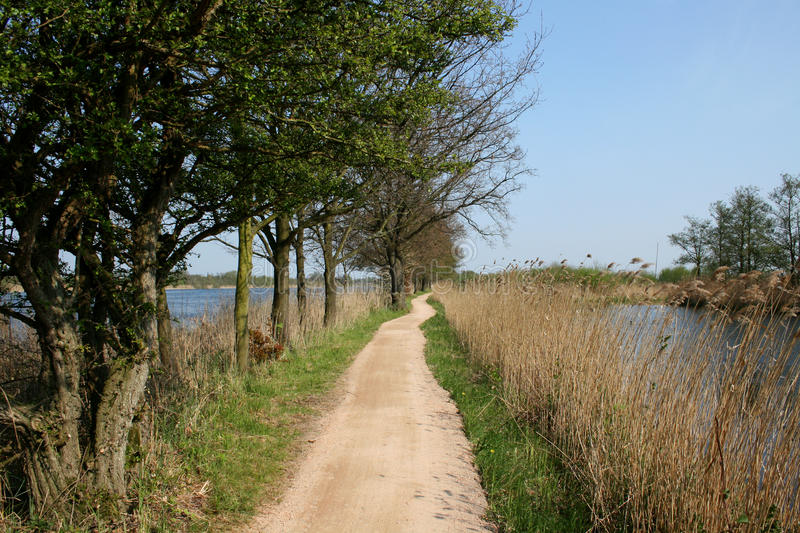 Download Biking Trail In Between Water Stock Image - Image: 19954487