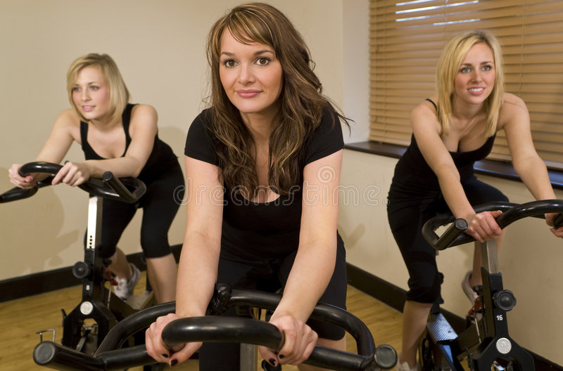 Biking Trio Stock Photography