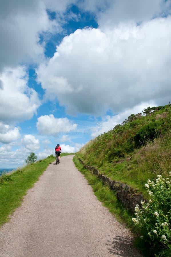Biking up the hill