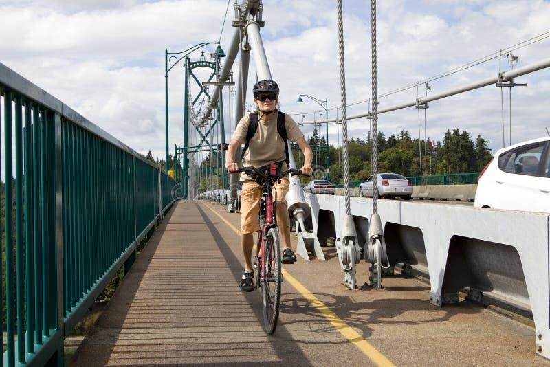 Biking Vancouver royalty-vrije stock afbeeldingen