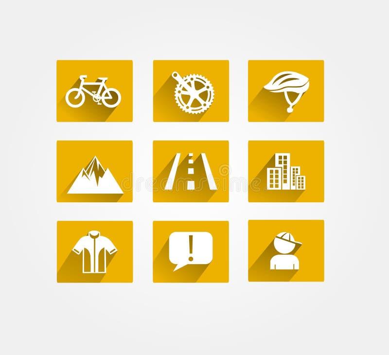 Bikings vectorpictogram royalty-vrije stock fotografie