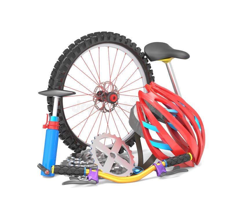 Bikingsmateriaal vector illustratie