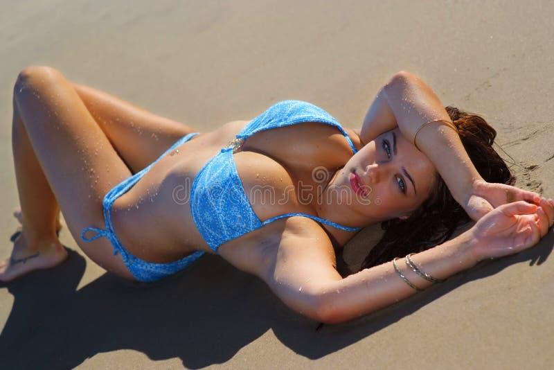 bikini κορίτσι προκλητικό στοκ φωτογραφία