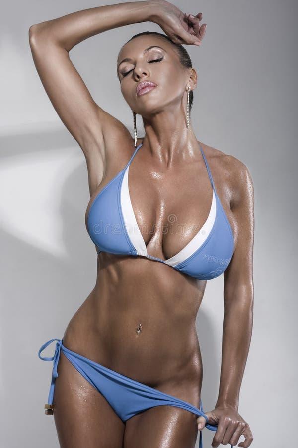 bikini μοντέλο μόδας στοκ φωτογραφίες