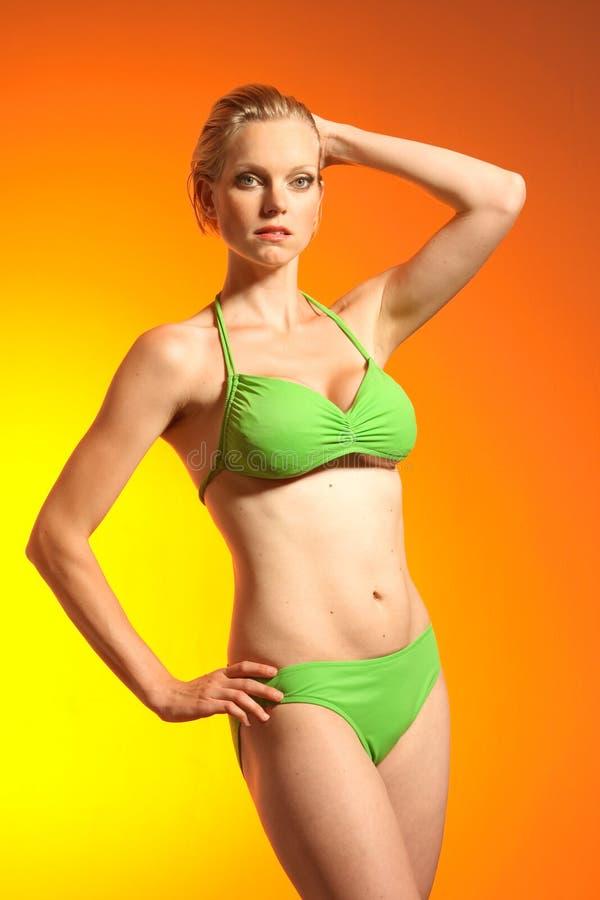 bikini μοντέλο στοκ φωτογραφία