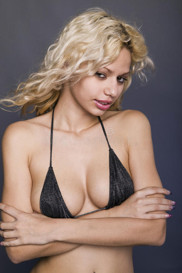 Download Bikini ξανθές νεολαίες γυναι&k Στοκ Εικόνες - εικόνα από βραχιόλια, καυτός: 17051552