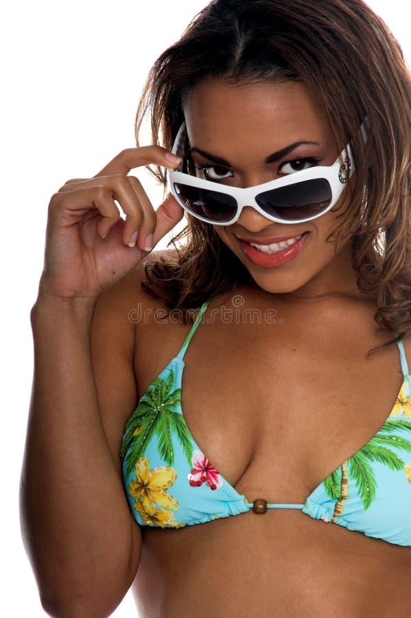 bikini πρότυπος τροπικός στοκ εικόνες με δικαίωμα ελεύθερης χρήσης