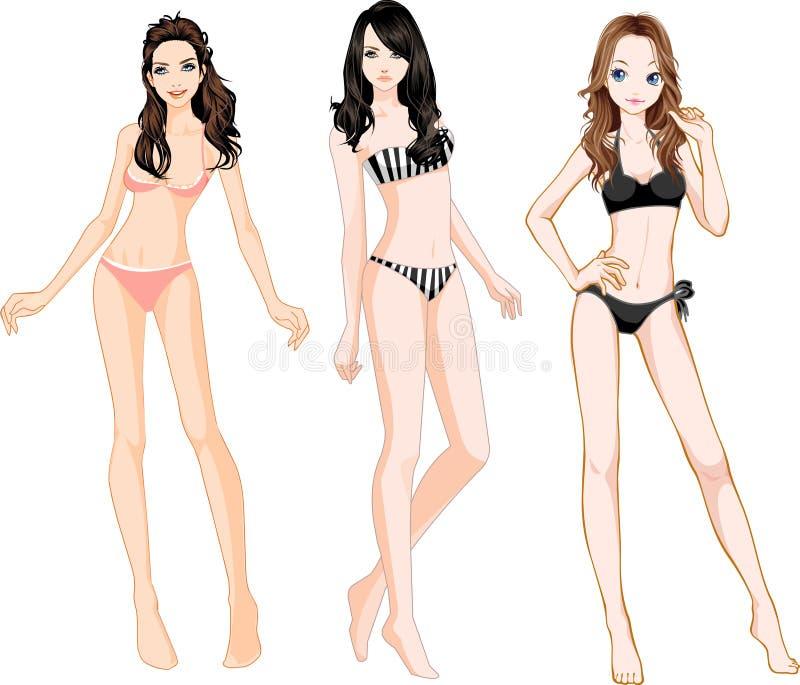 Bikini illustration libre de droits