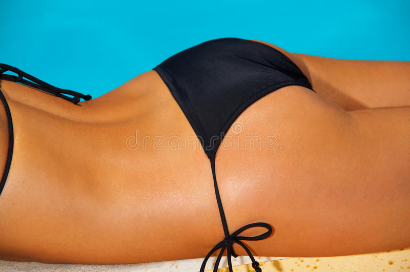 Download Bikini in action stock image. Image of beauty, pampering - 2490529