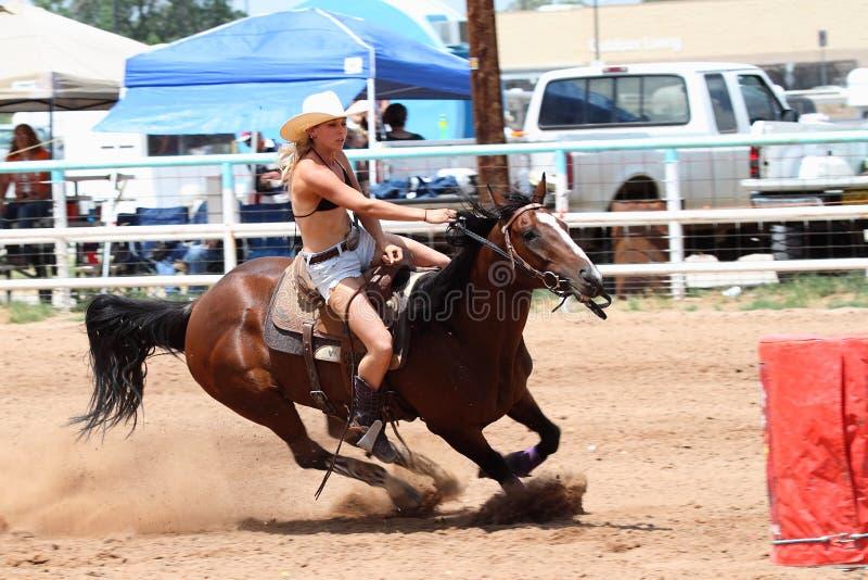 Bikini Barrel Racing royalty free stock photos