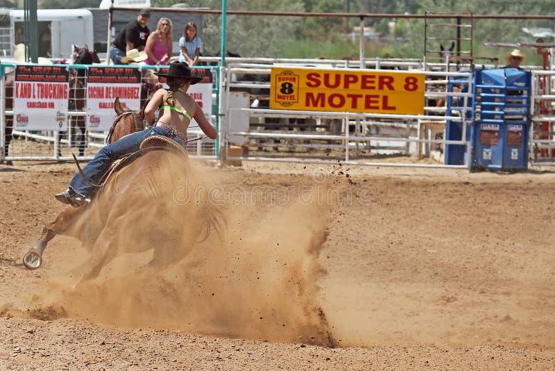 Bikini Barrel Racing stock image