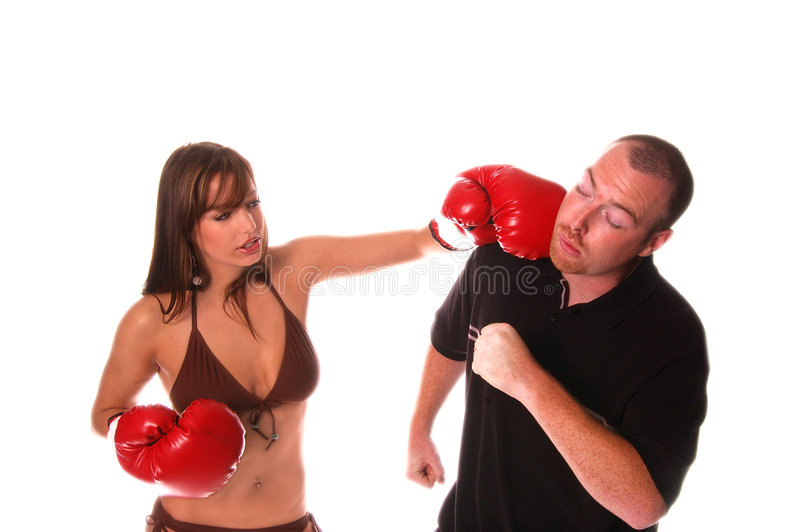 Bikini-Boxer-Ausscheidungswettkampf stockfotografie