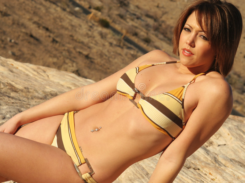 bikini desert fashionable στοκ φωτογραφία με δικαίωμα ελεύθερης χρήσης