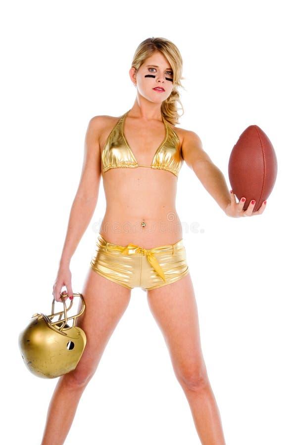 Bikini-Fußball lizenzfreie stockfotos