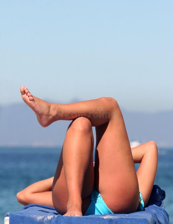 Download Bikini Girl stock photo. Image of backside, coast, behind - 1423080
