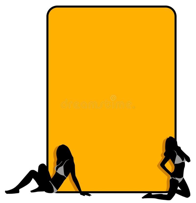 Download Bikini girls border stock illustration. Illustration of line - 10277630