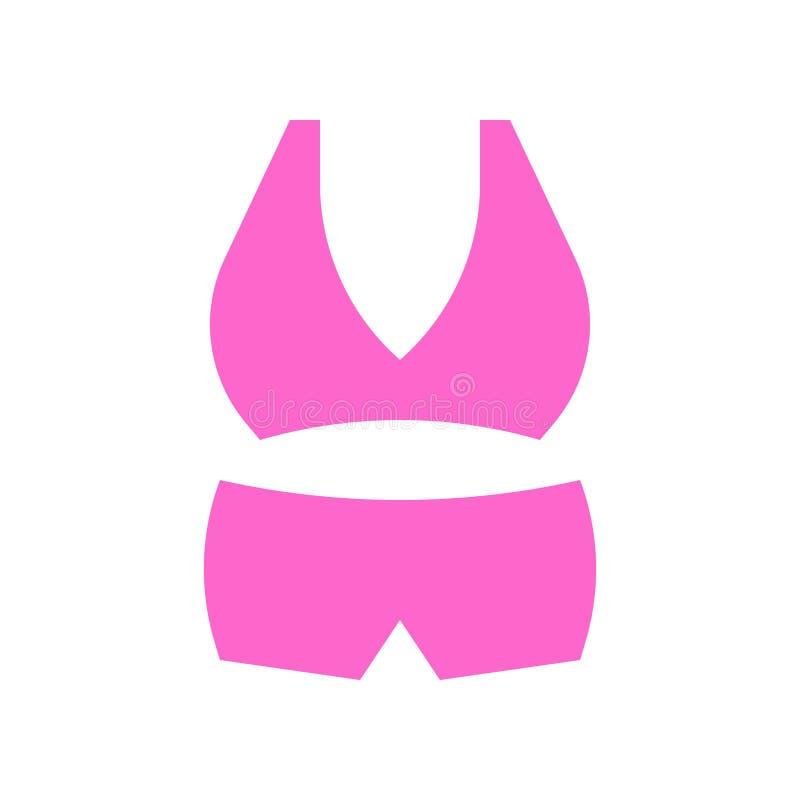 Bikini- oder Wäschevektorillustration, flache Artikone vektor abbildung