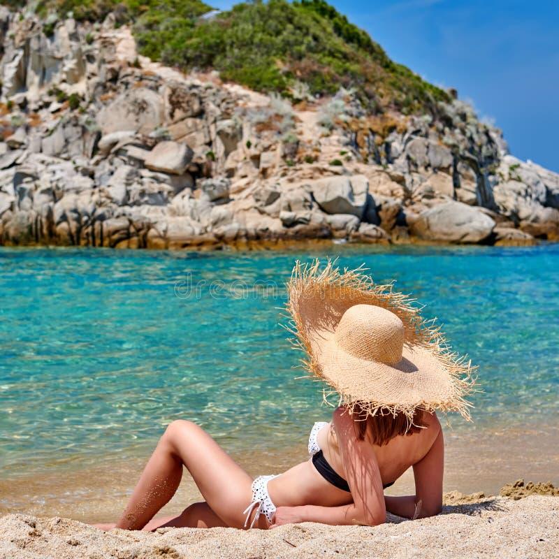 bikini plażowa kobieta obrazy royalty free