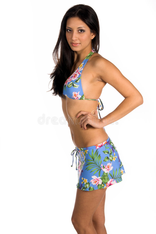 Download Bikini sexiga latina arkivfoto. Bild av kvinna, wear, person - 521754