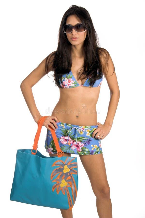 Download Bikini sexiga latina fotografering för bildbyråer. Bild av wear - 522353
