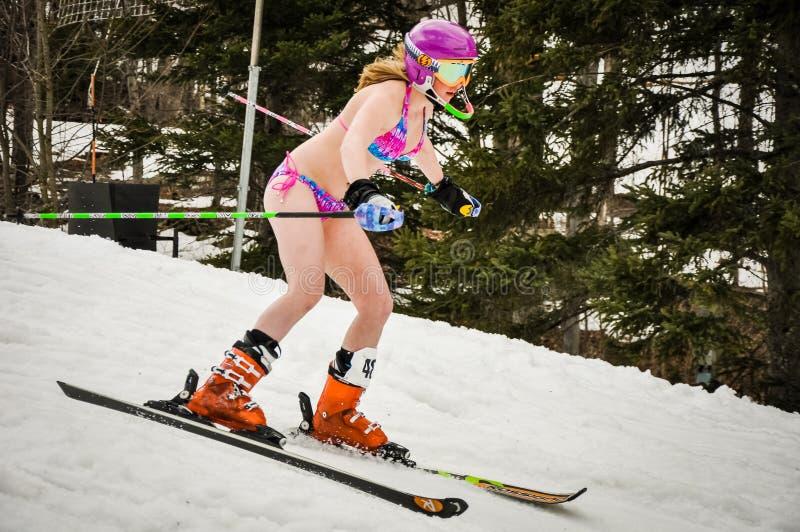 Bikini Ski Racer royalty free stock photos