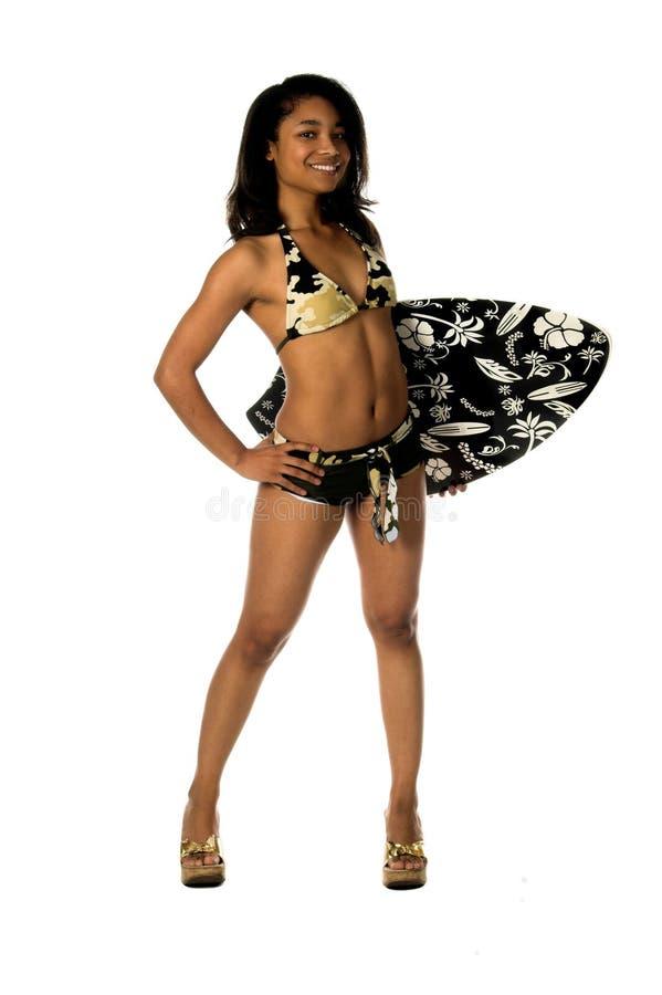 Bikini Swimboard di Camo fotografia stock libera da diritti