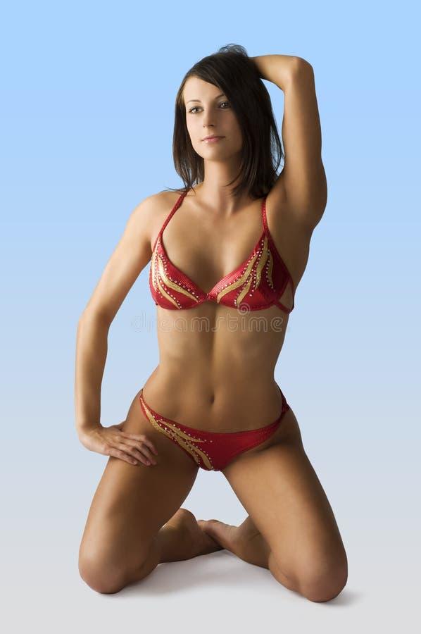 bikiniflickared royaltyfri fotografi