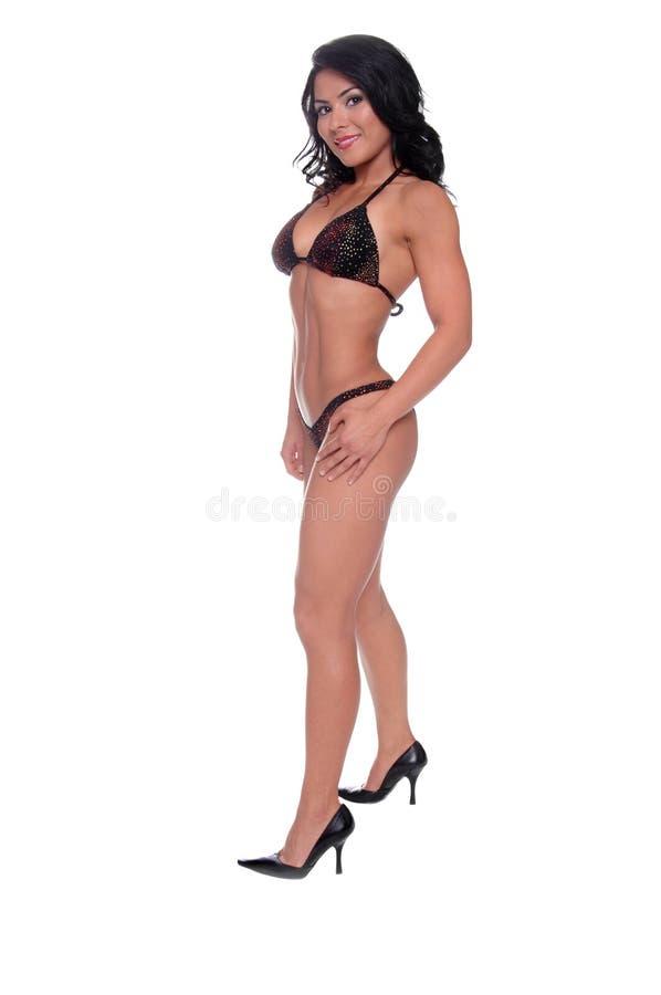 bikinikonditionmodell arkivbild